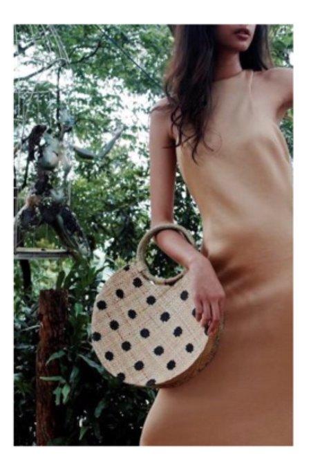 Banago Bello polka dot bag - natural/black