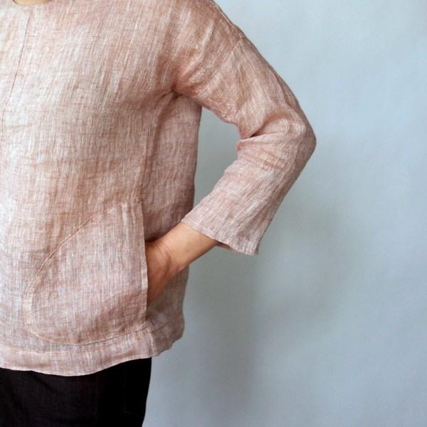 Modaspia Drop Sleeve Blouse in Light Terracotta