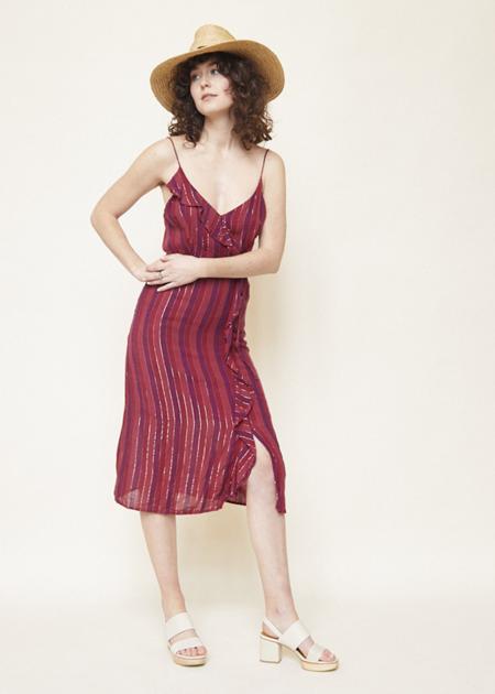 Rails Ariel Dress - Rouge Stripe