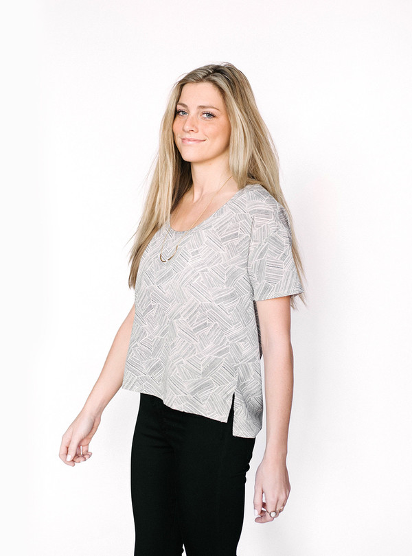 Bella Luxx Dashes Silk Tee