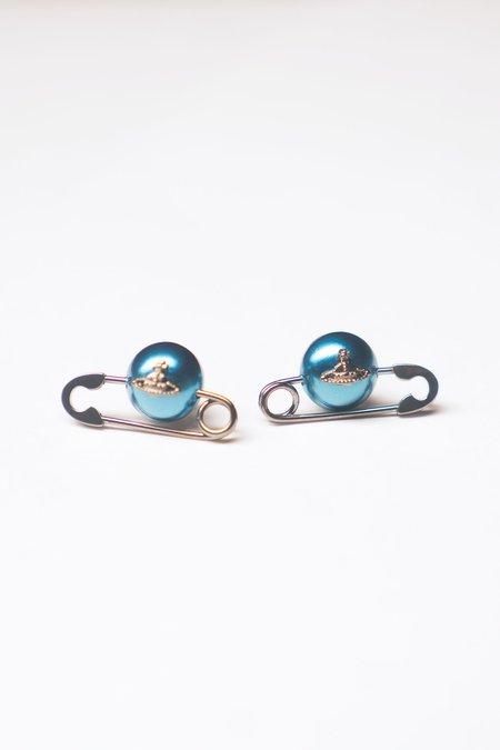 Vivienne Westwood Jordan Earrings - Teal Pearl