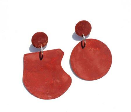 Georgina Trevino Marron Earrings - Red Brown
