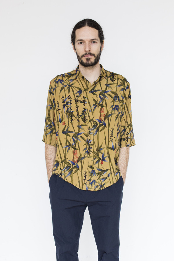 Men's Assembly Printed Noncollar Shirt
