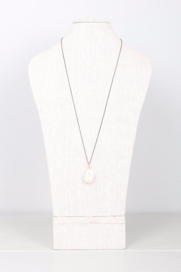 Mickey Lynn Baroque Pearl on Diamond Cut Chain