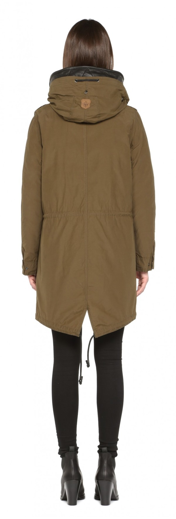 Mackage Khaki Waxed Cotton Sorrel Coat