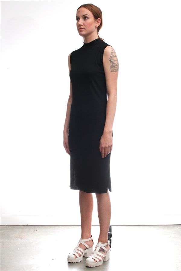 Nomia Mock Neck Midi Dress