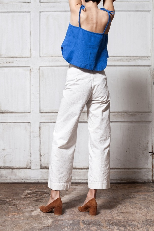 Jesse Kamm Sailor Pant - salt white