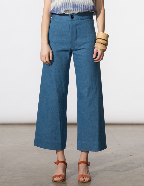 SBJ Austin Angela Pant in Blue Denim