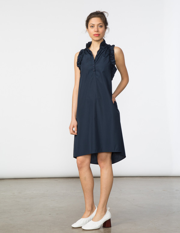 SBJ Austin Tracey Dress in Navy