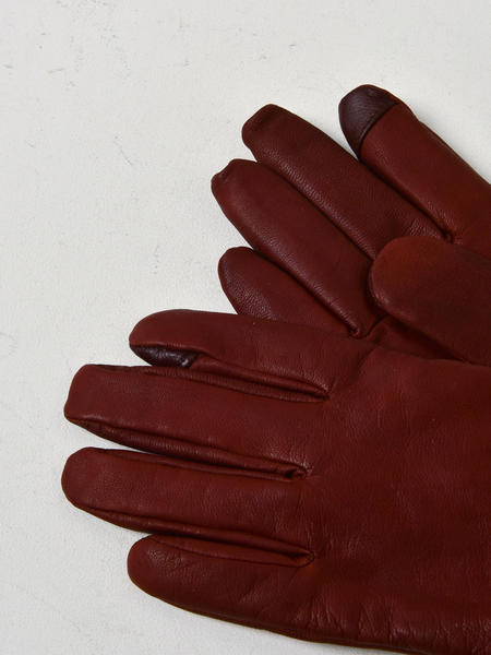 UGG M TABBED SPLICE VENT CONDUCTIVE TIPS ONLY LEATHER GLOVE - COGNAC