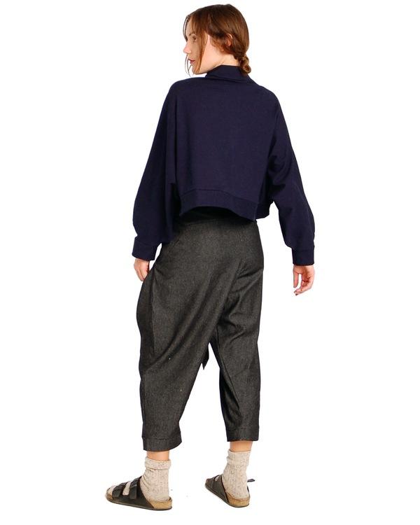 323 Crop Turtleneck Sweatshirt