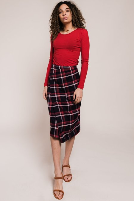 Just Female Charles Skirt - Red Check