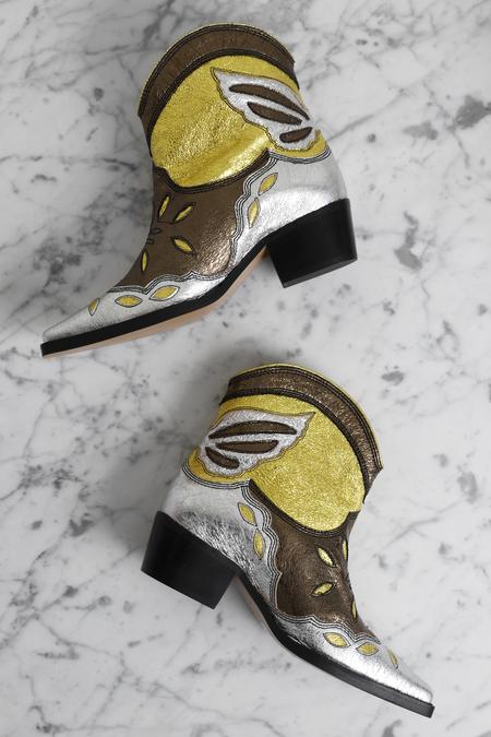 Ganni Meg Cowboy Boots - Kalamata