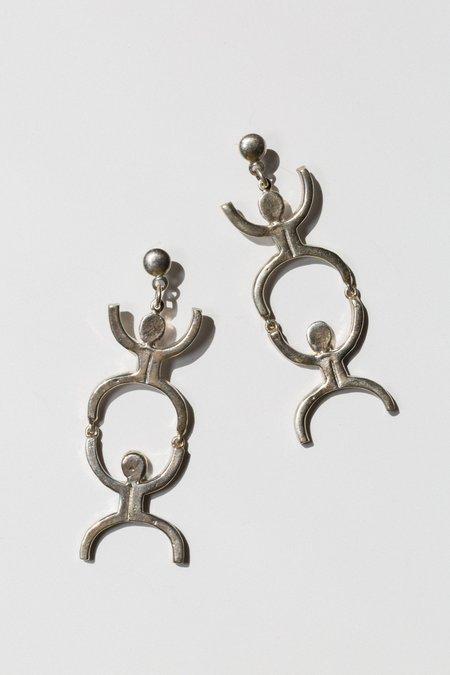 open house projects Fella earrings - sterling silver