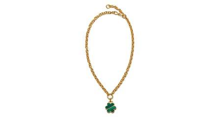 Lizzie Fortunato Daisy Chain Necklace - Malachite