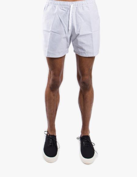 Pleasant Striped Black Shorts - Black/white striped
