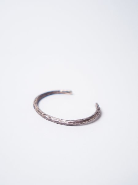 CAUSE AND EFFECT HAMMERED THIN CUFF - STERLING SILVER