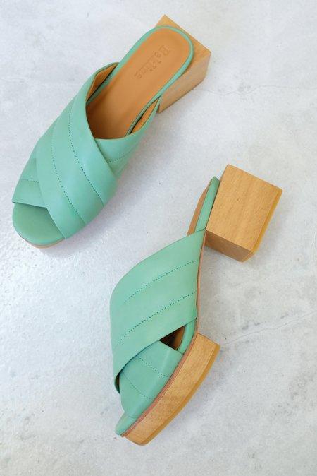 Beklina Matisse Criss-cross Platform Slide - Mint