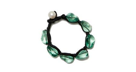 Lizzie Fortunato Pebble Bracelet - Sea Green