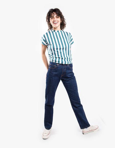 Won Hundred Proof Tee - Balsam Green Stripes