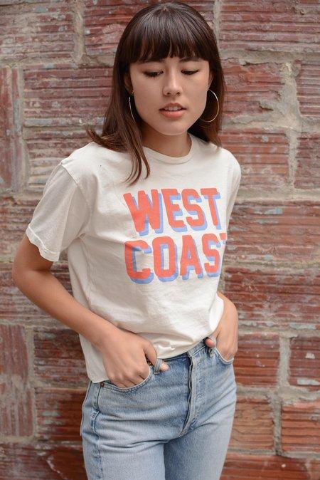 Retro Brand Black Label West Coast Cut Off Tee - White