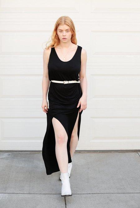 AMVI Double Slit Maxi Dress - black