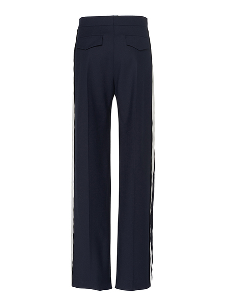 Victoria Beckham WIDE LEG PANT - MIDNIGHT BLUE