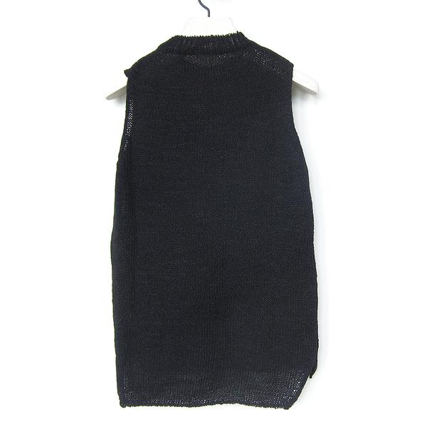 Evam Eva cotton vest - black