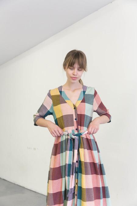 ACE & JIG LEELEE DRESS - SANDSTONE