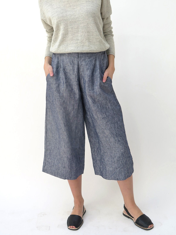 Ali Golden Chambray Linen Pant