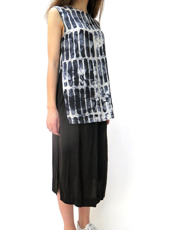 Ali Golden Midi Skirt