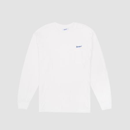 Better Classic Logo Pocket L/S - White
