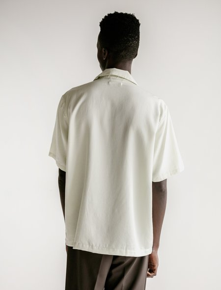 Our Legacy Box Short Sleeve Translucent Embroidered Shirt