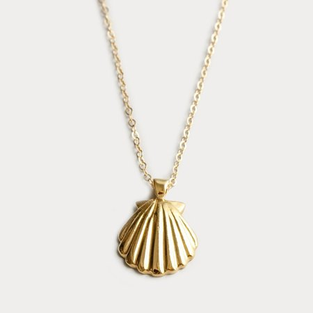 Wolf Circus Marcel Shell Necklace - Gold