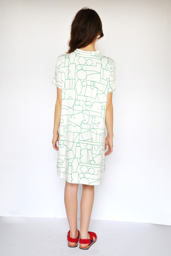 Dusen Dusen Blockhead Green Oversize Tee Dress