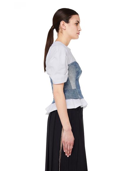9f8618c807f Junya Watanabe T-shirt with Denim Corset - White ...