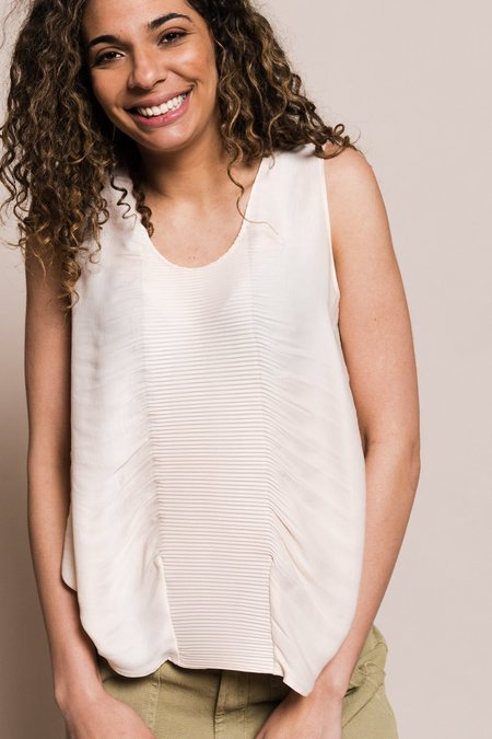 Cotélac Pleated Tank Top - Nude