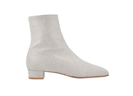 BY FAR Este Boot in Silver Glitter Leather