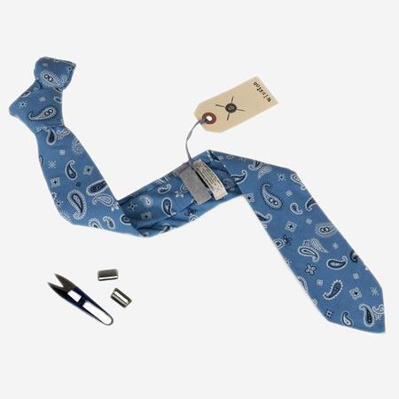 Cursor & Thread Winston Paisley Necktie - Light/Dark Blue