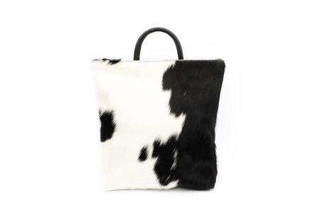 Primecut Cowhide Backpack - BLACK/WHITE