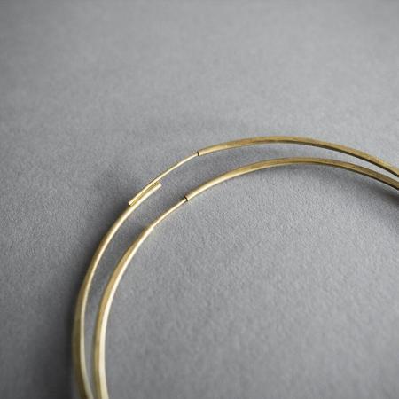 Essie Day Jewelry Essie Day Hammered Geo Solar Hoops - brass