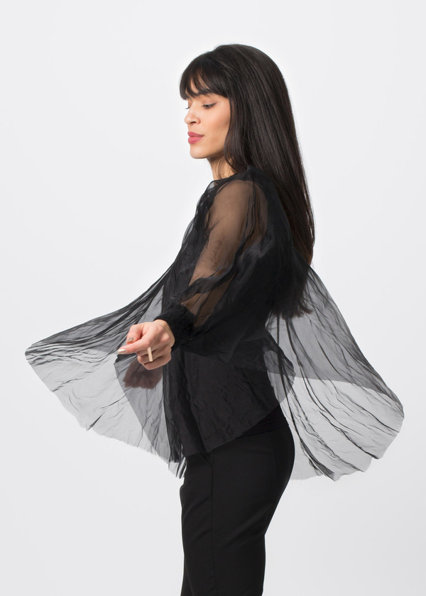 Louiza Babouryan Cashmere Cape Top