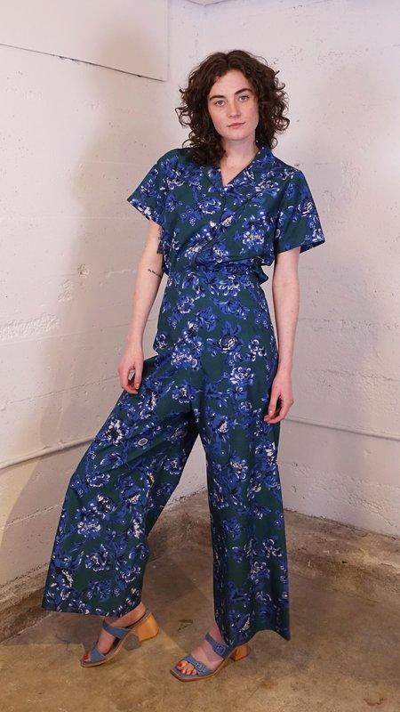 Caron Callahan Ellis Pant - Blue Vine Floral