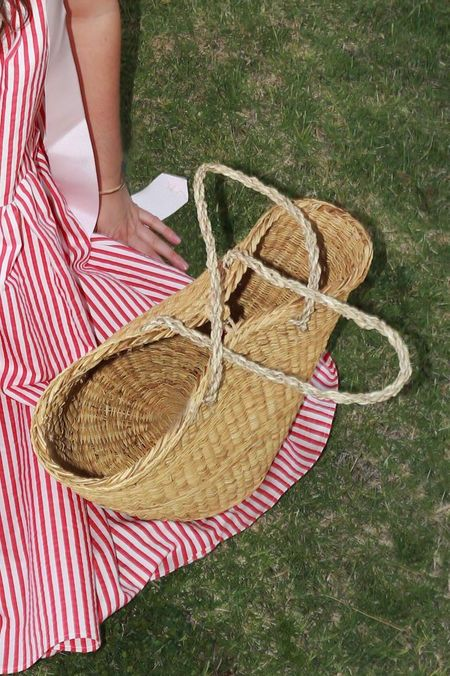 Maria La Rosa Big Pesca Basket - Straw