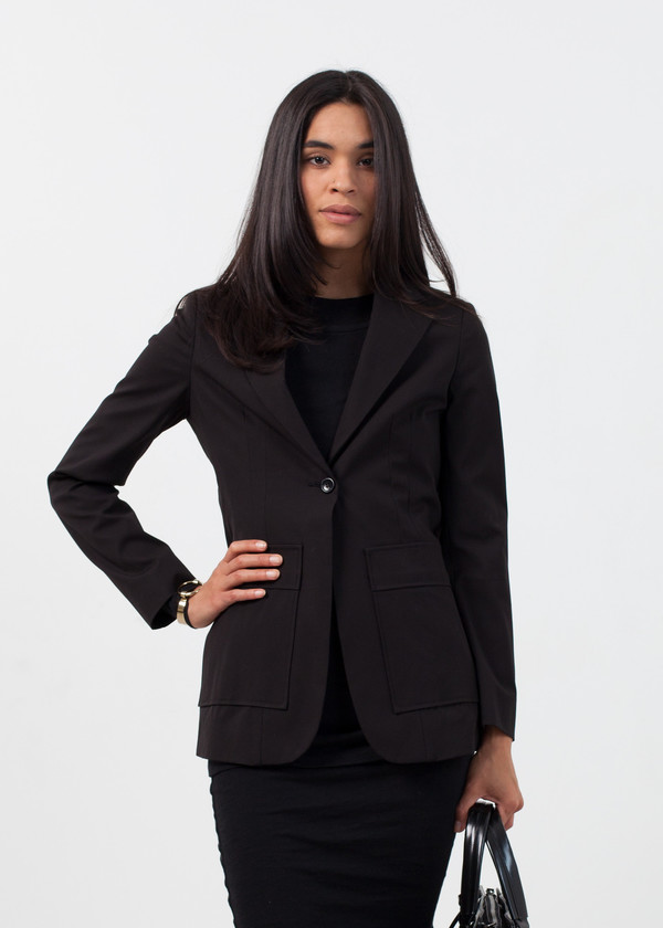 Ter et Bantine Double Pocket Blazer in Black