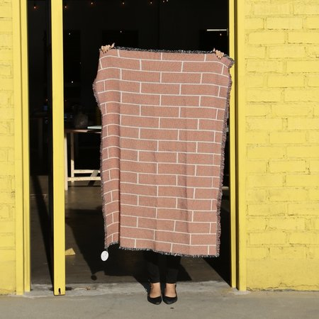 Body Language Shop Throw Blanket - Brick