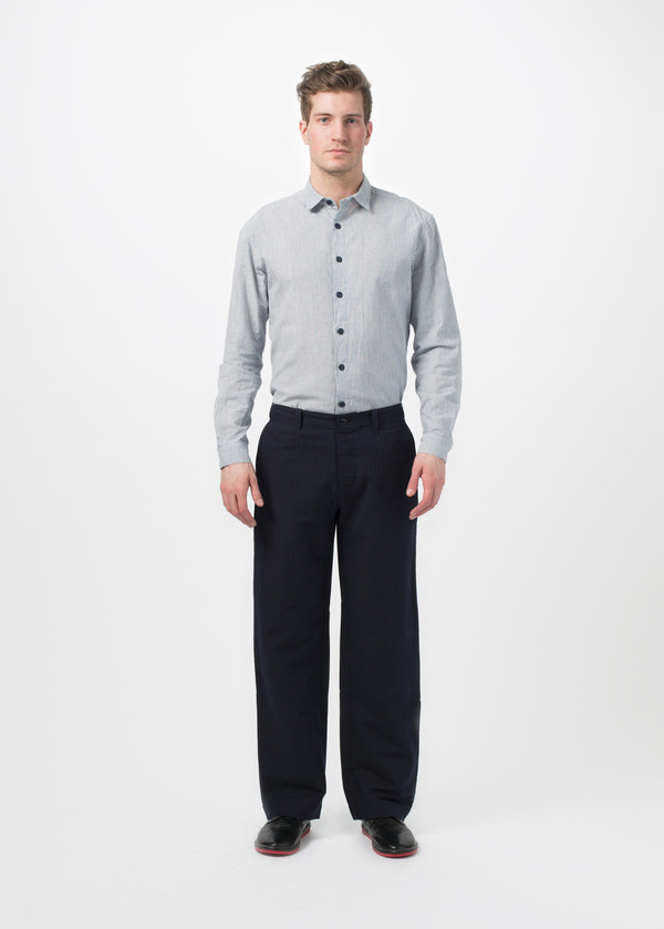 Men's You Must Create Herringbone Wide Leg Trouser