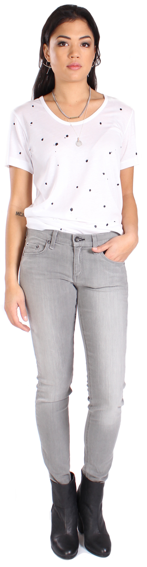 Rag & Bone Dre Jean in Aged Grey