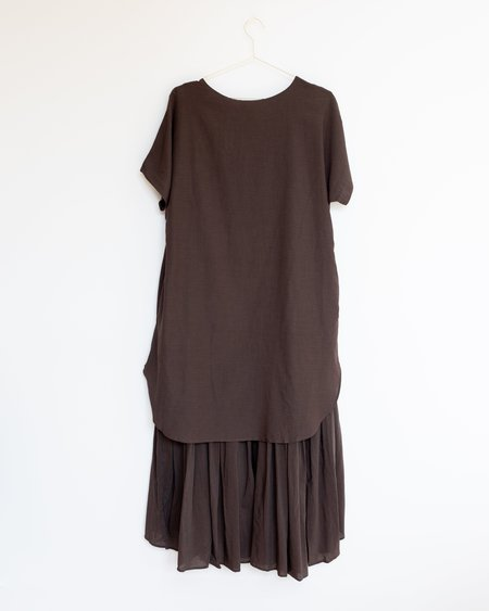 Black Crane Double Dress - Charcoal