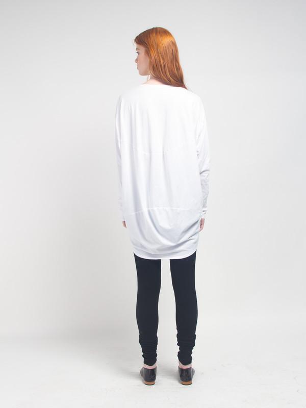 Kowtow Drape Back Top White